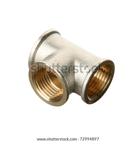 Water pipe over white - stock photo