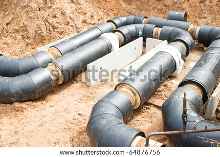 water pipes - stock photo
