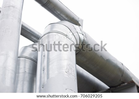 water pipes on the street