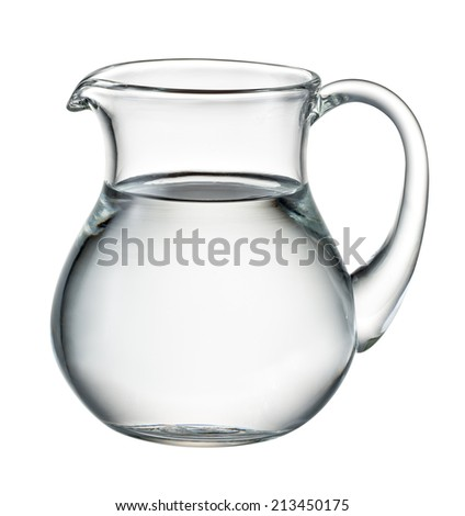 Water pitcher isolated on white. With clipping path - stock photo