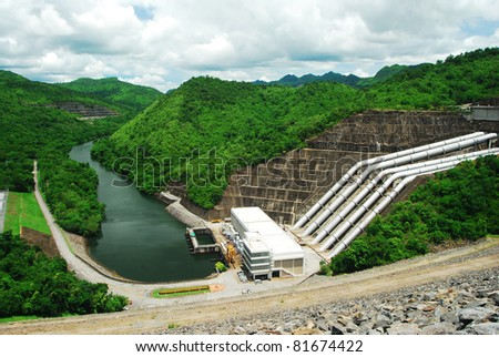 Water plant power dam energy - stock photo