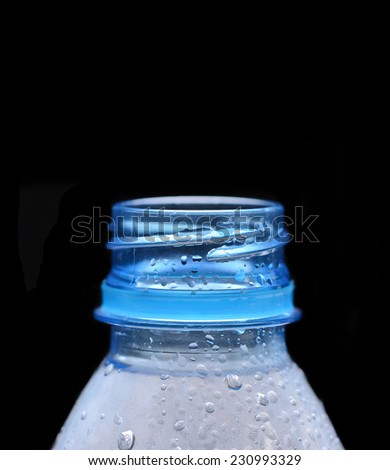 Water plastic bottle - stock photo