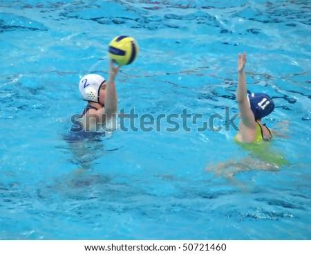 water polo - stock photo