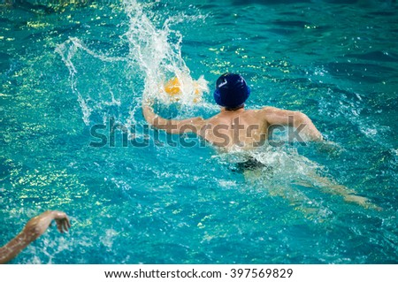 Water polo is a team water sport