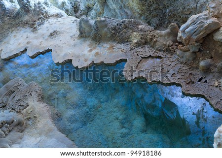 Water pool in Carlsbad Caverns - stock photo