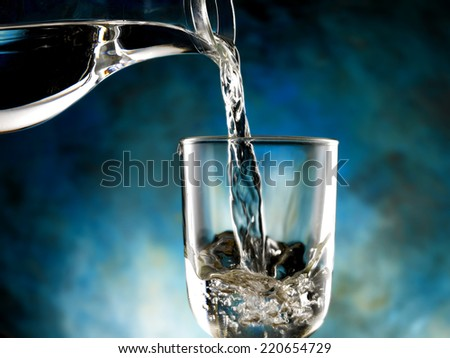 water poured - stock photo