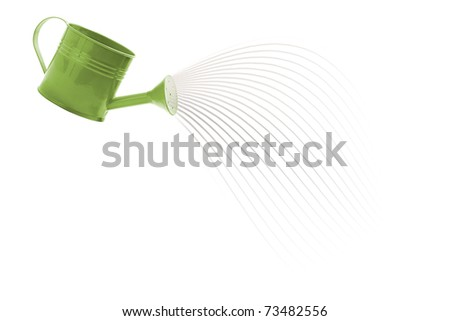 Water pouring from a watering can - stock photo