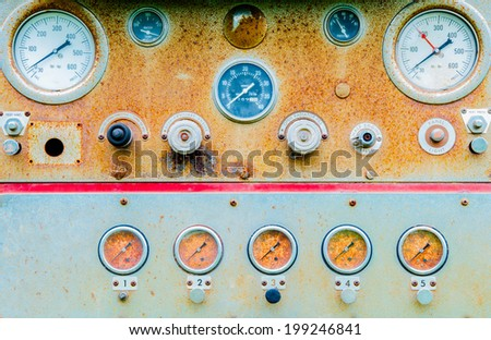Water pressure gauge is malfunctioning. - stock photo