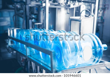 water production line - stock photo
