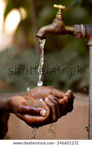 Water Projects for African Children - Drought Symbol  - stock photo