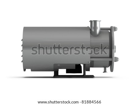 water pump - 3d illustration isolated on white