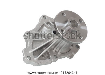 water pump engine cooling fan isolated on a white background - stock photo