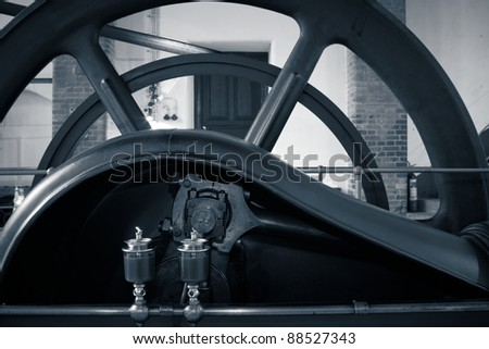 Water pumping station - old sewage treatment plant - stock photo