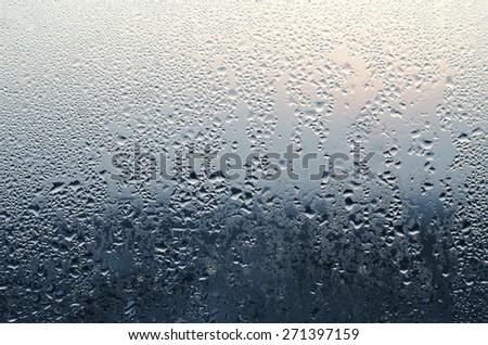 Water Rain Drop on the Grass in The Night Raining Season Dark Tone  for Texture Background - stock photo