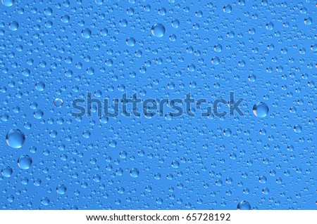 Water raindrops on the window after rain for background