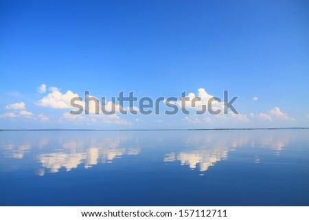 water reflection - stock photo