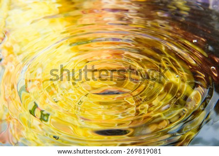water reflection and water drop for background - stock photo