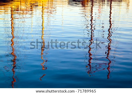 Water reflections - stock photo
