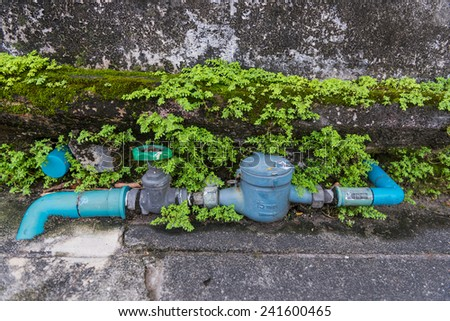 Water regulator valve - stock photo