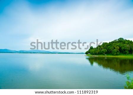 water reservoir - stock photo