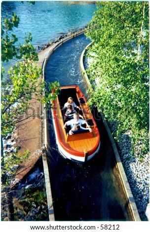 Water Ride - stock photo