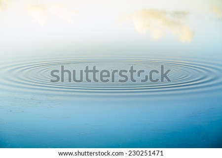 Water ripples - stock photo