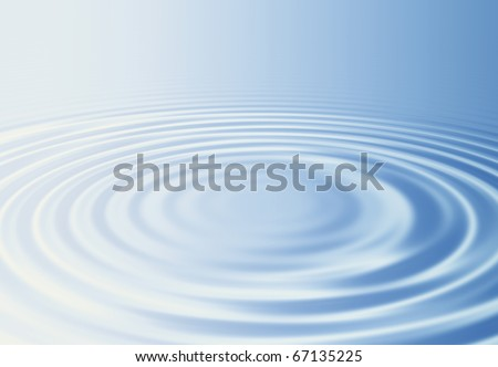 Water ripples and bright light - stock photo