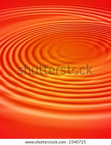 water ripples in sunset colors - stock photo