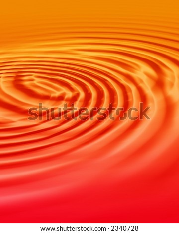 water ripples in warm red tones - stock photo