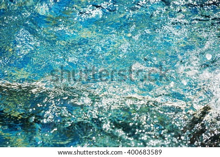 Water ripples on swimming pool