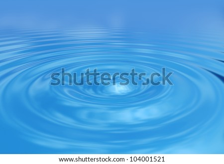 Water ripples sky reflection - stock photo