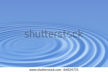 Water ripples smooth - stock photo