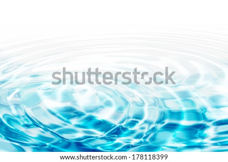 water ripples - turquoise concentric circles  - stock photo