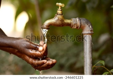 Water Scarcity - Clean Water Projects for Africa  - stock photo