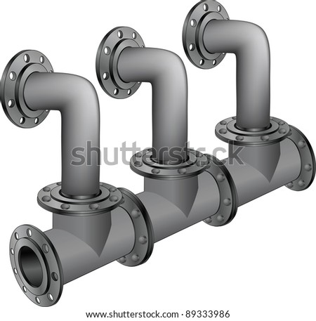 Water, sewer pipes - stock photo
