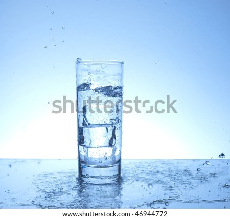 Water spilling from a glass of water