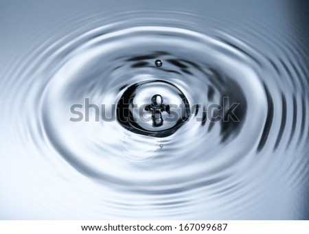 water splash and drops on metallic background