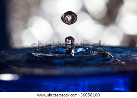 water splash background with blue color - stock photo