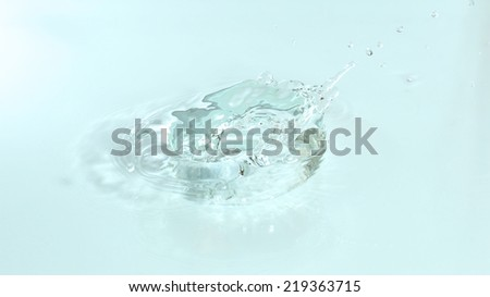 Water splash, close-up
