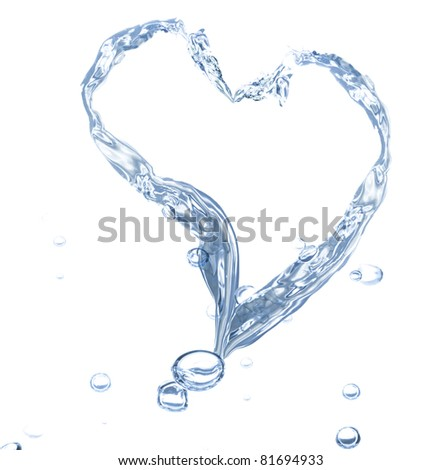 water splash hearth isolated on white background See my portfolio for more