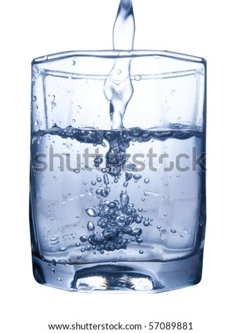 water splash in glass isolated