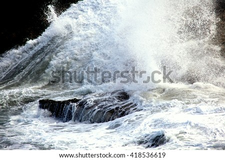 Water splash in nature outdoors.