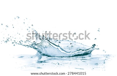 water splash isolated on white background - stock photo