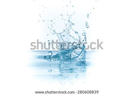 water splash isolated on white background - stock photo