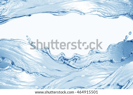 Water splash isolated on white. Close up of splash of water