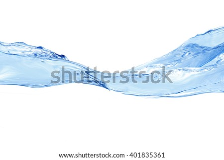 Water splash isolated on white. water splash of water forming