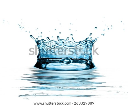 water splash on white background - stock photo