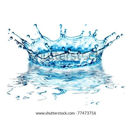 water splash on white background - stock photo