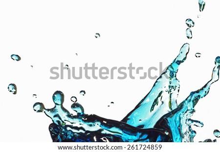water splash on white background - snail - stock photo