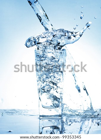 Water splash out of glass